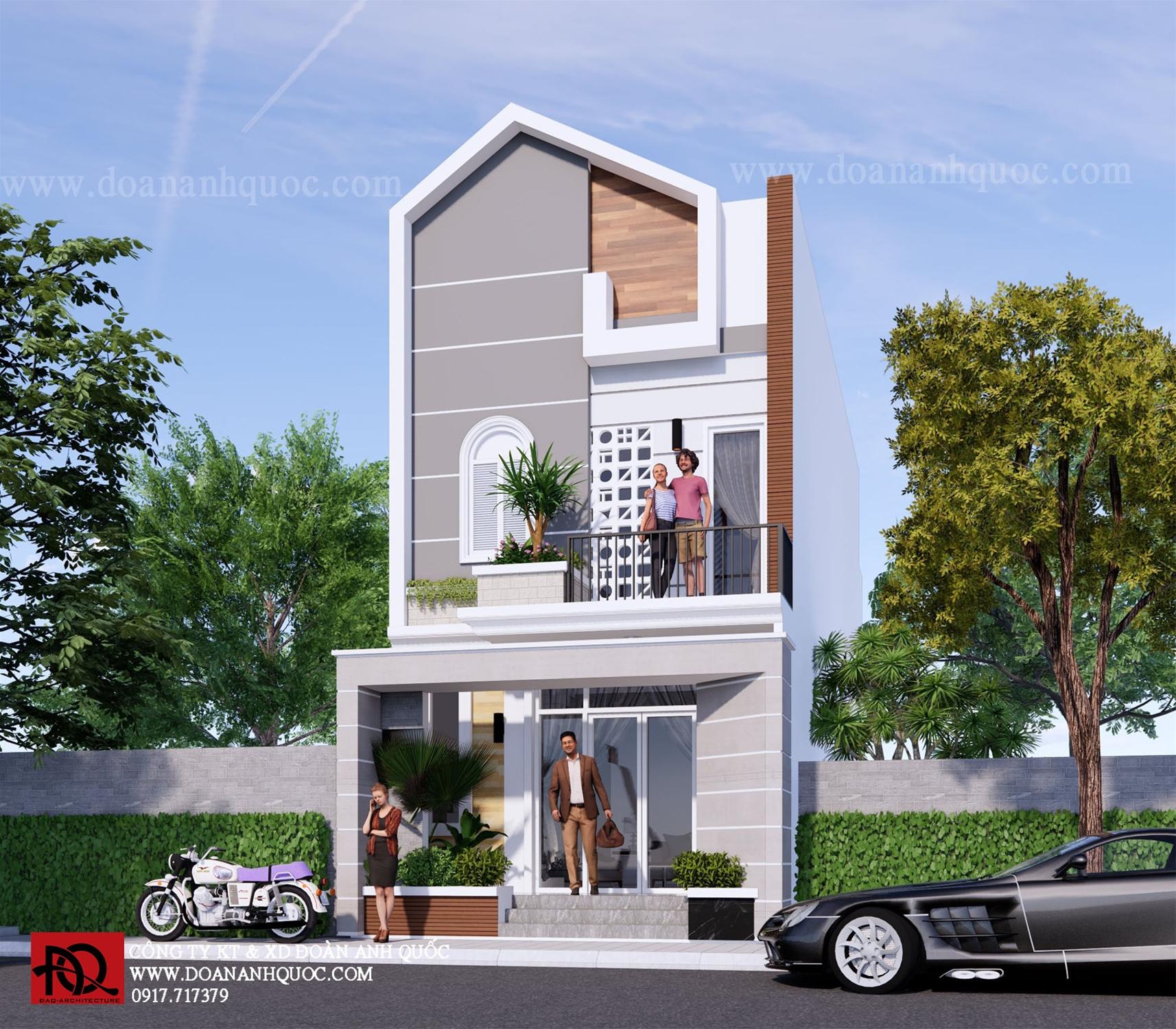 Công ty TNHH Kiến trúc Xây dựng Đoàn Anh Quốc - 500 bản vẽ thiết kế nhà phố đẹp năm 2021 tại Phan Thiết
